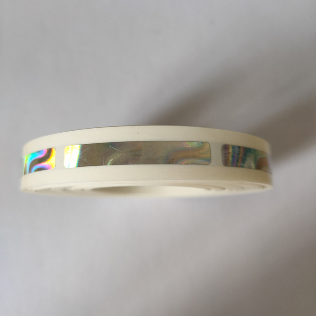 1000pcs/roll 6x40mm beautiful Hologram laser scatch off sticker for game card or wedding game