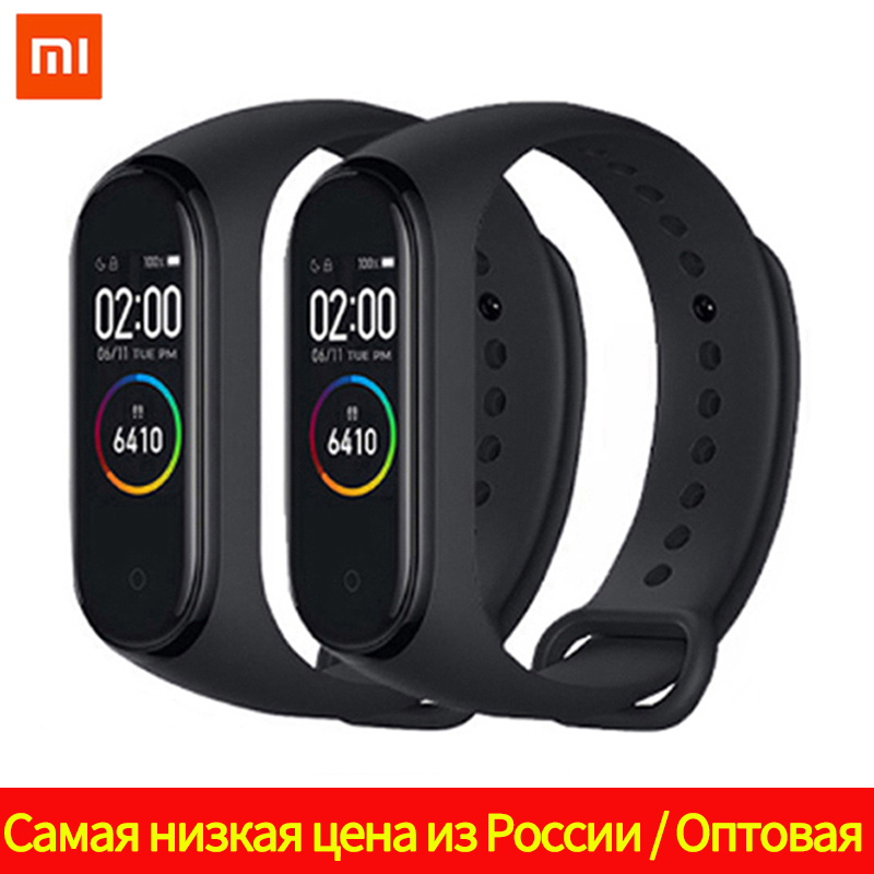 Original Brand New Xiaomi Mi Band 4 Wristband Miband 4 Fitness Bracelet 3 Color AMOLED Screen Music Control Smartband(China)