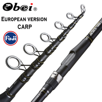 OBEI Carp Fishing Rod 3.3 3.6m Carbon Fiber Telescopic Spinning Rod pesca 3.25lb power 80 200g 11' 12' Hard Pole