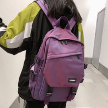2020 New Unisex Large capacity Backpack Junior and high students attend class Schoolbag Nylon waterproof Travel bag fashionable