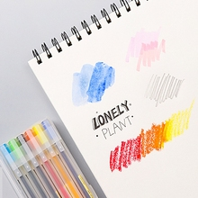 50 Sheets A4 Paper Watercolor Sketch Book Notepad for Painting Drawing Diary Journal Notebook Sketchbook with Spiral Wire XXUC