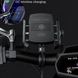 DC ładowania bezprzewodowego moto komórkowy uchwyty do telefonów stoi moto rcycle uchwyt telefonu stojak na telefon dla iphone moto rcycle uchwyt na telefon komórkowy