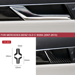 Auto Sticker Covers Interior Accessories for Mercedes-Benz Old C W204 (2007-2013) Car-styling Inner Door Handle Arms Cover Trim
