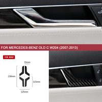 Auto Sticker Covers Interior Accessories for Mercedes Benz Old C W204 (2007 2013) Car styling Inner Door Handle Arms Cover Trim