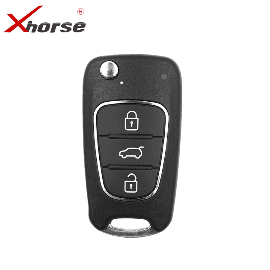 XHORSE XNHY02EN Wireless Universal Remote Key For HYUNDAI Flip 3 Buttons For VVDI Key Tool English Version 5pcs/lot
