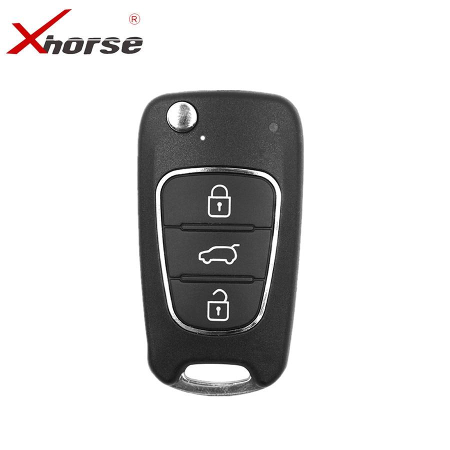 XHORSE XNHY02EN Wireless Universal Remote Key For HYUNDAI Flip 3 Buttons For VVDI Key Tool English Version One Piece