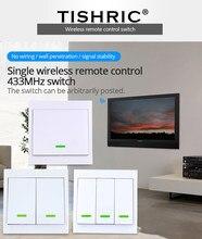 Tishric rf controle remoto 433mhz transmissor 86 tipo painel de parede pegajoso casa inteligente trabalho com sonoff rf/t1/t2/t3/ponte/tx/433