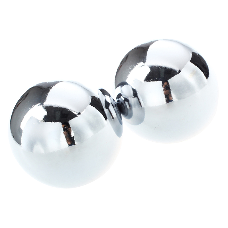 Fashion-52mm Baoding Balls Chinese Health Ministry Stress Balls - Chrome Color
