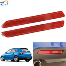 Противотумансветильник фара для заднего бампера ZUK, противотуманная фара, отражатель для Mazda 3 M3 Axela Sport Sedan Hatchback модели BK 2004 2005 2006 2007 2008 2009