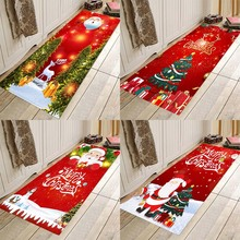 Christmas mat ,Christmas holiday mat, Christmas party mat, home flannel Anti-Slip absorbent soft mat food pisahua printing flannel home anti slip absorbent floor mat,round floor mat