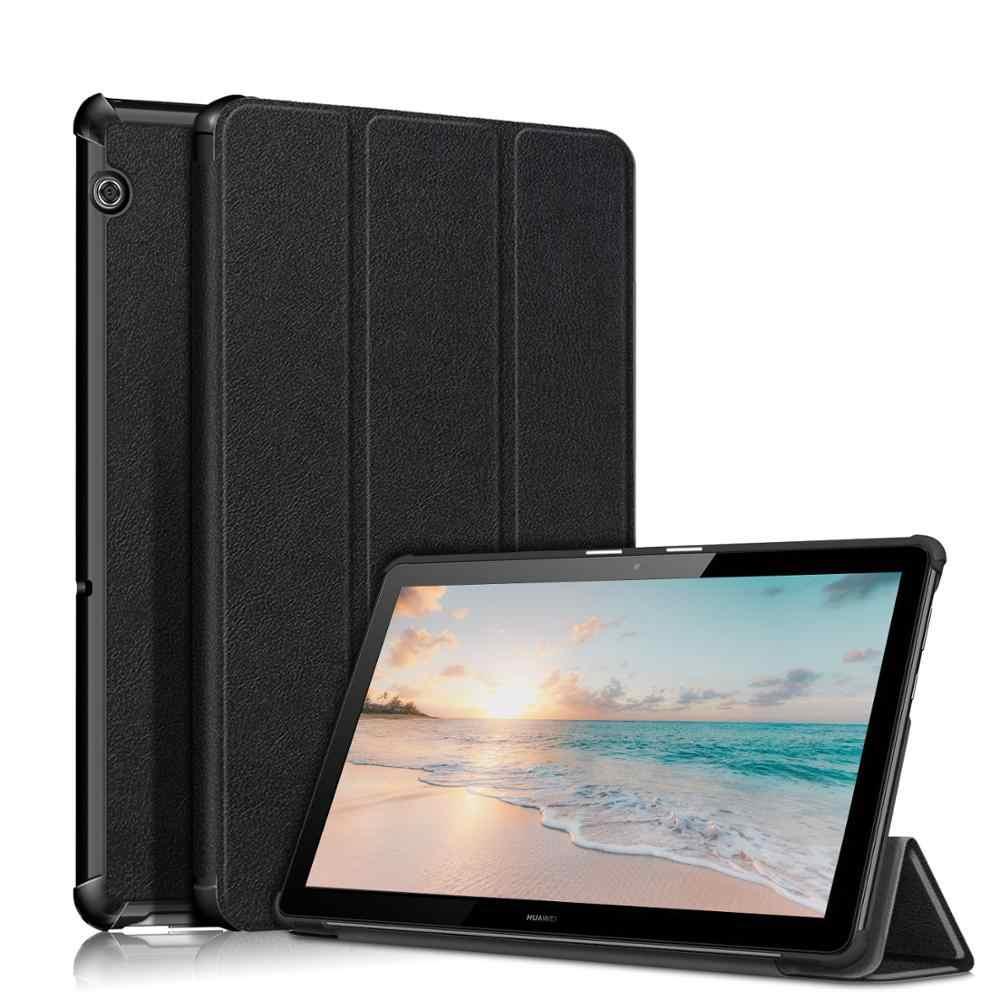 Ultra-Thin Magnetic Stand Case untuk Funda Tablet Huawei MediaPad T5 10 Pelindung Shell untuk Huawei T5 Case