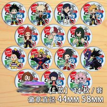 14pcs Japan Anime My Hero Academia Pins Cosplay Badge Broche Collectible Pin Rugzak Tassen Collectie Accessoires Cartoon Speelgoed(China)