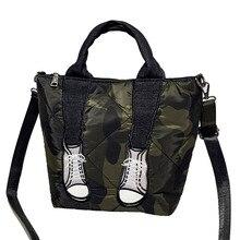 Trend Lady Handbags Waterproof Oxford Cloth Large Capacity Shoulder Bag Casual Simple Space Cotton Warm Wild Messenger Bag