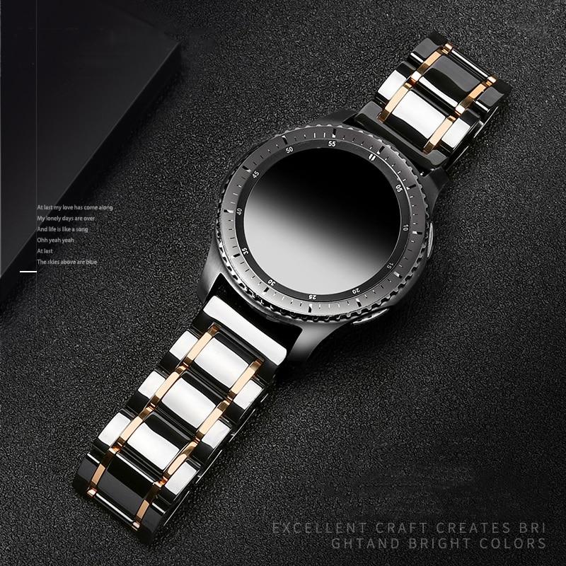 22 мм керамический ремешок для часов Samsung Galaxy watch 46 мм ремешок Gear S3 Frontier ремешок для часов браслет Huawei watch GT 2 ремешок 46 GT2