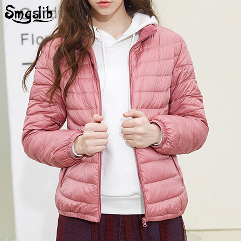 2019 New Duck Down Jacket Women Casual Ultra Light solid Autumn Winter Warm Coat Lady Plus Size 4XL Jackets Female Hooded   Parka