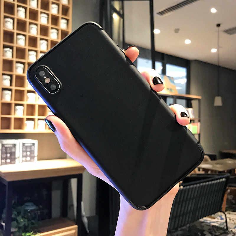 耐衝撃保護マットシリコーン電話ケース iphone 7 8 プラス 6 4s ホワイト Tpu ソフトケース iphone 11 プロ最大 Xs XR 裏表紙