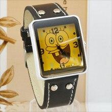 Buy Fashion Cartoon Child Watch Kids Watches Boys Girls Rectangle Watches Quartz Wristwatch Leather montre enfants horloge kinderen directly from merchant!
