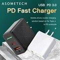 Вилка стандарта ЕС/США 18 Вт Type C PD 3,0 быстрое зарядное устройство USB для мобильного телефона адаптер портативный мобильный телефон быстрое за...