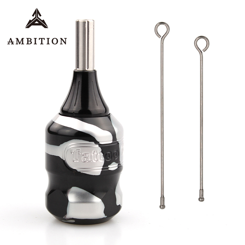 Ambition Comfortable Cartridge Tattoo Grip 32mm Adjustable Suitable Aluminum Alloy Grip Tattoo Tube For Cartridges Needlle