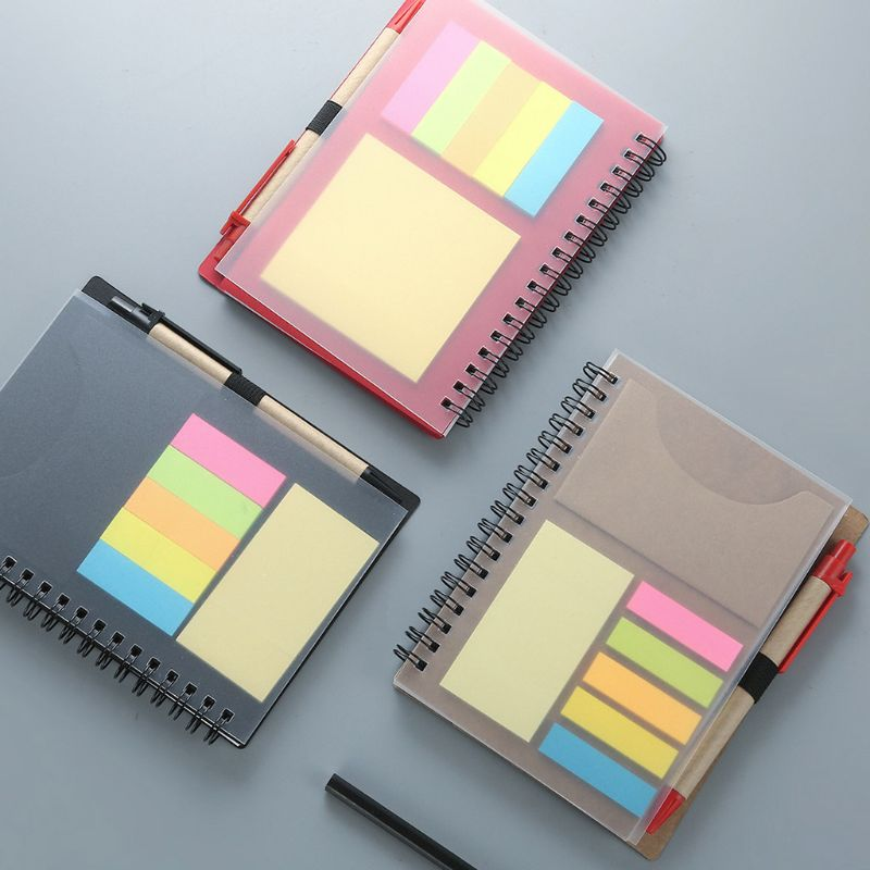 Creative Sticky Notes Notepad Kawaii Stationery Diary Notebook with Pen School image