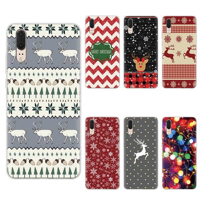 Merry Christmas Soft TPU Coque Cases For Huawei P Smart Plus Z 2019 Mate 20 10 Pro P8 P9 P10 P30 P20 Lite Pro 2017 Covers Case