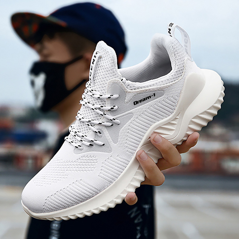 men sport shoes knitted man sneakers fahion designer shoes white running shoes breathable chunky sneaker tenis