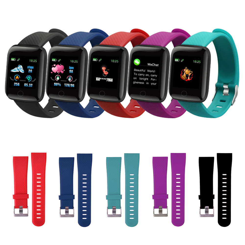 Original Silicone Wrist Strap Smart Wearable Accessories For 116 Plus Smart Watch