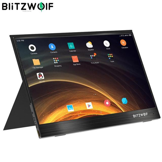 BlitzWolf PCM4 15.6 Inch UHD 4K Type C Portable Computer LCD Monitor Gaming Display Screen for Console Smartphone Tablet Laptop