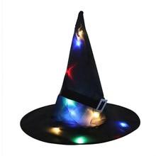 LED Glowing Dress Light Fancy Party-Cap Birthday-Head-Wear Halloween Black Cosplay Gift