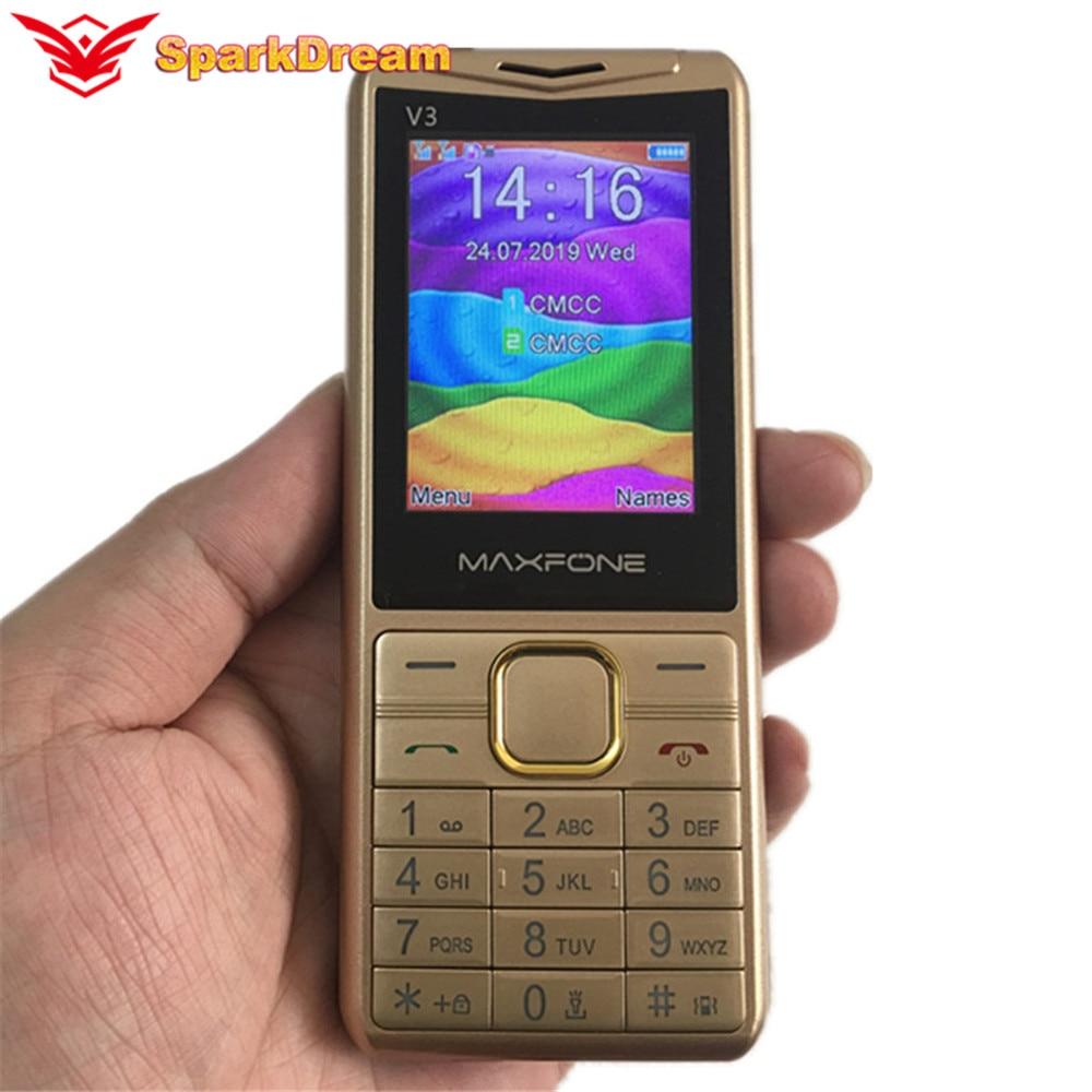 V3 Push Button Mobile Phone 2.4 Inch Dual Sim Basic Big Keyboard Bluetooth Flashlight MP3 Radio Camera BigHorn Cheap CellPhone
