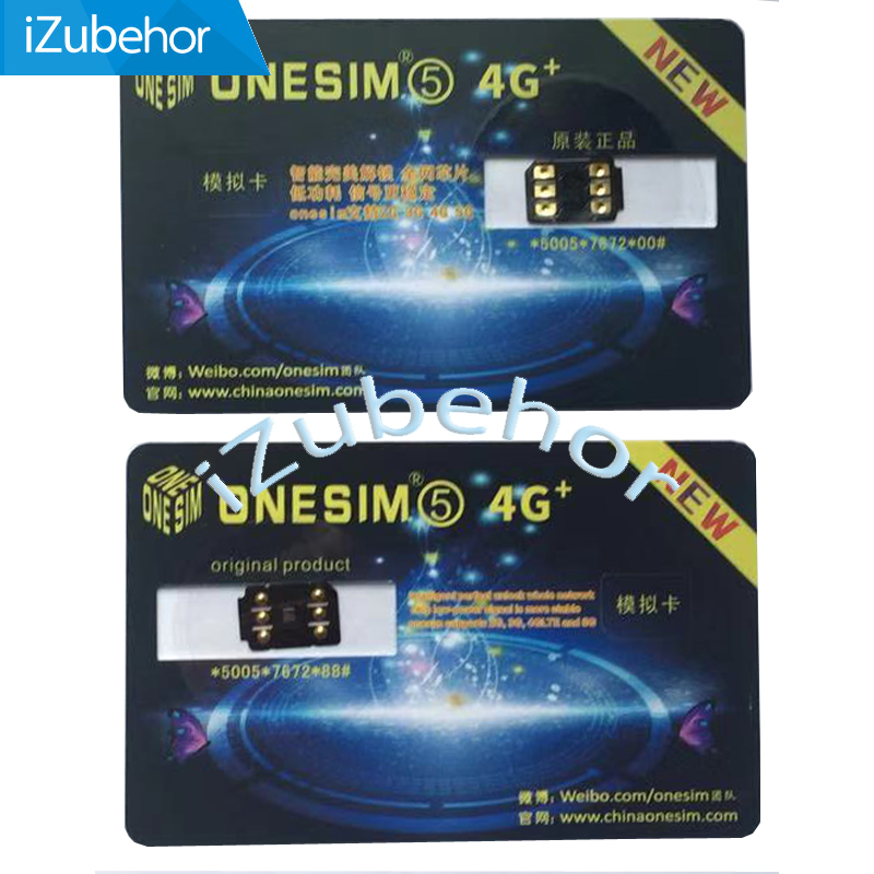 Support IOS13 One SIM 6 For Iphone 5/5c/5s/6/6p/6s/7/7p/8/8p/x/xs /XS Max/11/11 Pro Onesim Automatic 5G LTE Sim Card Adapter