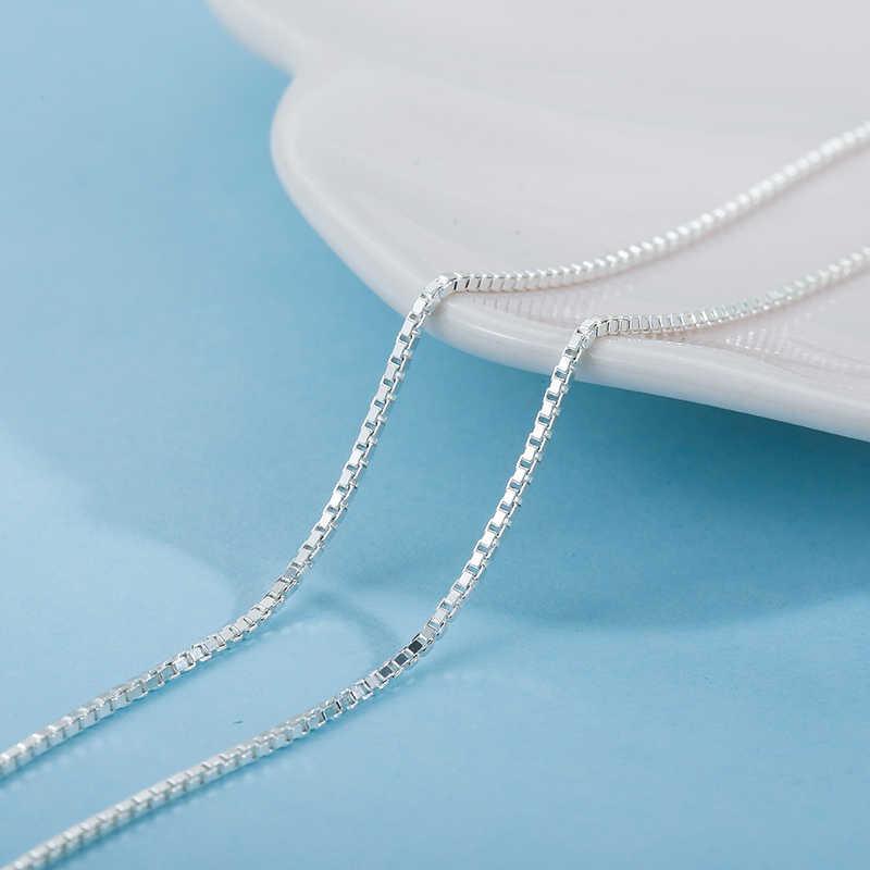 SA SILVERAGE S925 gümüş kolye 16/18 inç S925 ayar gümüş aksesuar zinciri eşleşen