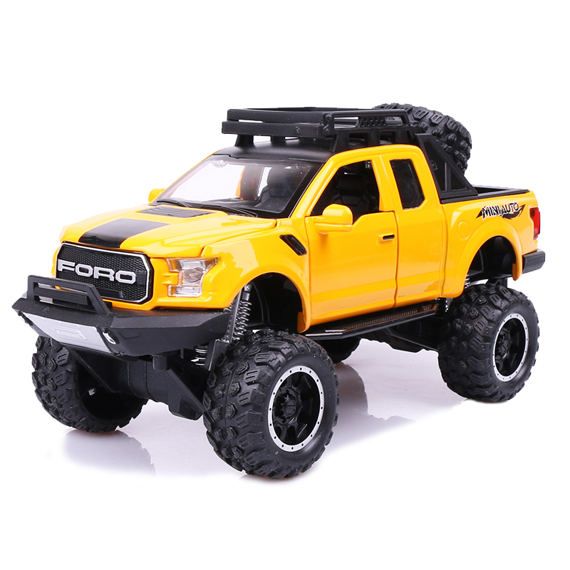 2020 New 1:32 Ford Raptor F150 Big Wheel MINIAUTO Alloy Diecast Car Model Toys For Children's Gifts Kid Toys Car Off Road SUV