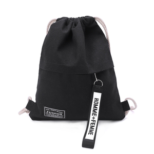 Cinch Sack Canvas Storage School Gym Drawstring Bag Pack Rucksack Backpack Pouch(China)
