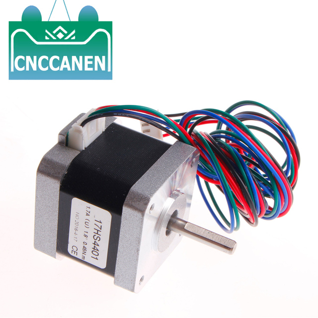 17HS4401 17HS19 2004S1 17HD48002H 22B מנוע צעד Nema 17 1.7/0.59Nm(84 ozin) עבור 3D מדפסת CNC