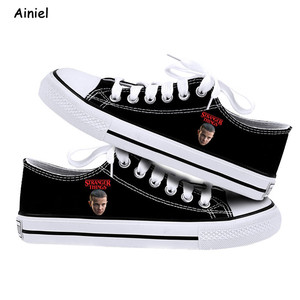 Image 3 - 2019 New Stranger Things Eleven Dustin Cosplay Shoes Canvas Shoes Sneakers Canvas Shoes Causal Sneakers Shoe Adult Women Lovers