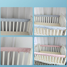 Small Fresh Cotton Crib Bumper Soft Anti-Bite And Anti-Collision Protection Strip Environmental Protection Health And No Smell