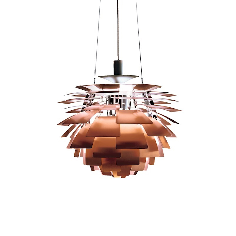 Denmark Home Hanging Lamps White Copper Pinecone <font><b>Pendant</b></font> <font><b>Lights</b></font> Suspension Luminaire Fixture Decor For Kitchen Dinning Table Bar image