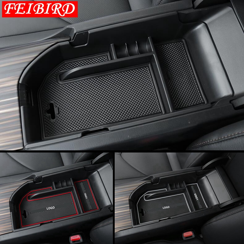 Central Storage Pallet Armrest Container Box Cover Fit For Toyota Camry 2018 2019 Left-hand Drive Only