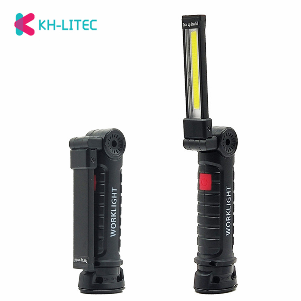 5 Modes COB Handheld LED Work Light Portable Spotlight Lamp Lantern With Magnetic Hooking Flashlight Torch For Camping Hunting