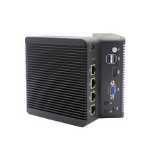 X86 linux fanless mini pc 4lan celeron n2840 n2940 n3540 j1900 j3160 j3455 firewall vpn roteador pfsense 4 nic servidor de rede