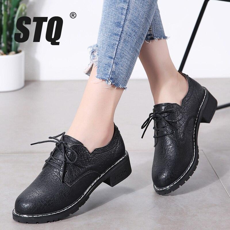 STQ/женские туфли оксфорды на плоской подошве; женские лоферы из натуральной кожи; женские кроссовки на шнуровке; женская зимняя обувь; LSJ1208Обувь без каблука   -