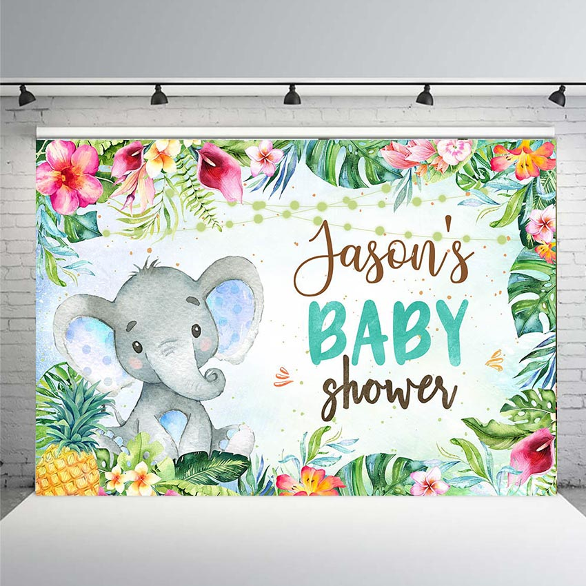 Mobile Baby Shower Banner Personalized Decoration