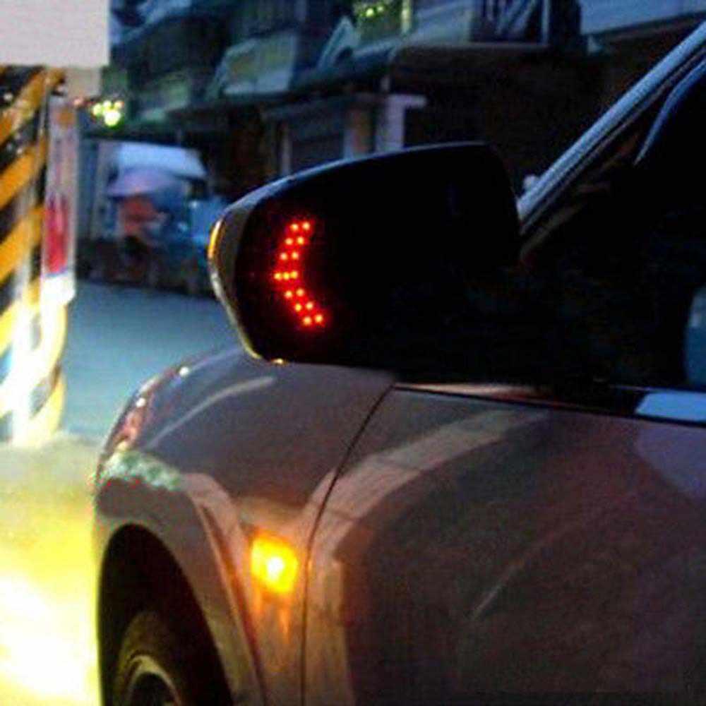 TOSPRA 2 pièces 14 SMD LED flèche panneau voiture rétroviseur indicateur clignotant lampe voiture LED rétroviseur lumière voiture accessoires