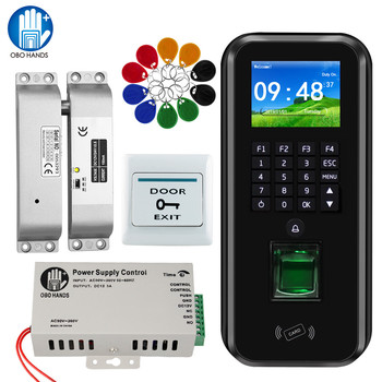 2.4inch TCP/IP RFD Keypad Door Access Control System with Software Biometric Fingerprint Time Attendance Machine Magnetic Lock