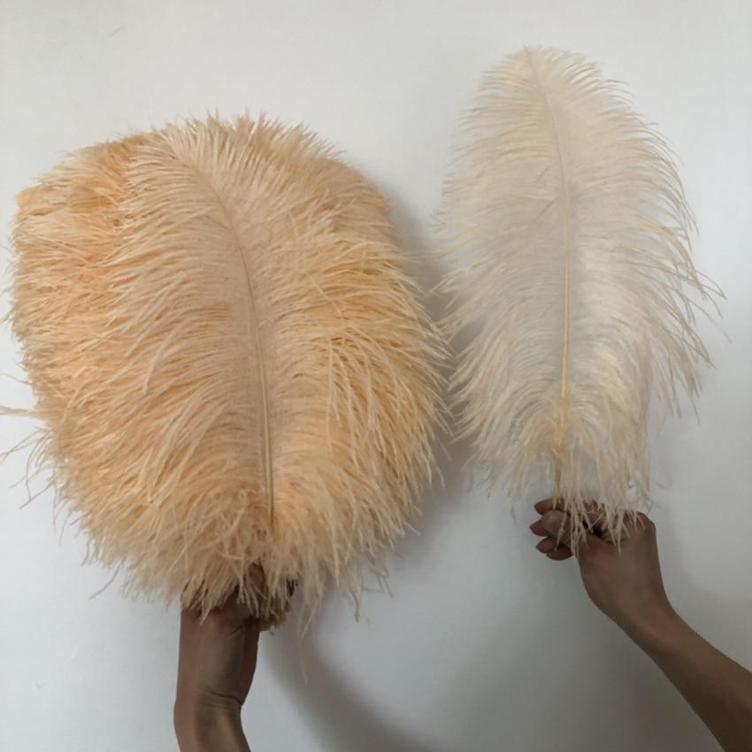 50-55 см 50 шт./лот Шампань окрашенное перо страуса для рукоделия карнавальвечерние Хэллоуин свадебные украшения ювелирные изделия Рождествен...
