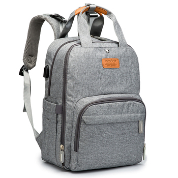 Diaper Bag Backpack Multifunction Travel Back Pack Maternity Baby Changing Bags Large Capacity Waterproof and Stylish Gray - discount item  31% OFF Activity & Gear
