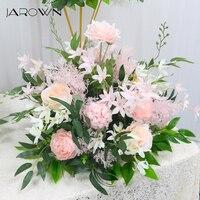 JAROWN 40cm Silk Artificial Rose Hydrangea Flower Ball Wedding Centerpieces Arrangement Decor Wedding Party Backdrop Flores