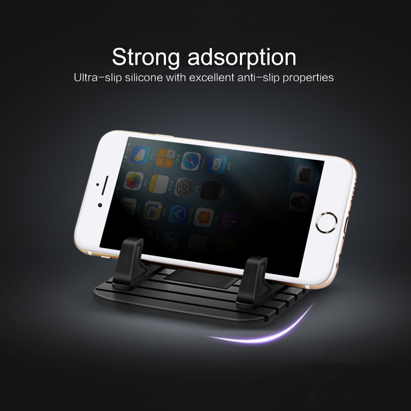 Car GPS Silicone Anti-slip Mat Desk Stand For IPhone Samsung Universal Silicone Mount Mobile Smart Phone Stand Bracket