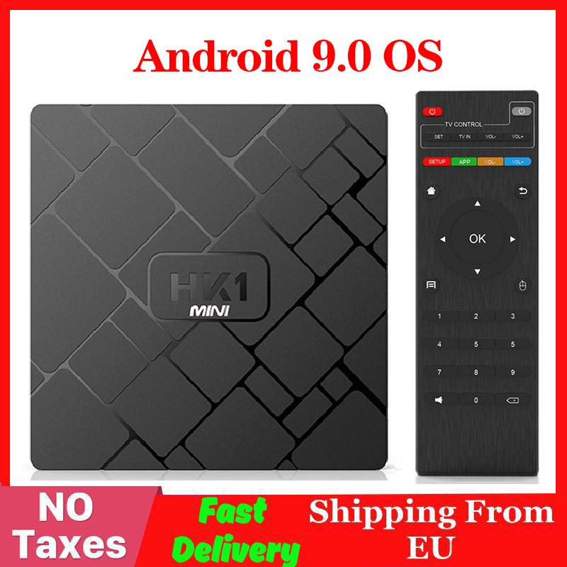 4K Smart TV BOX Android 9.0 HK1 MINI Media Player Rockchip RK3229 Quadcore 2GB 16GB H.265 Sep Top Box HK1MINI TVBOX IPTV BOX
